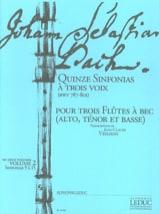 BACH - Quinze Sinfonias à Trois Voix vol.2 - BWV 787-801 - Partition - di-arezzo.fr
