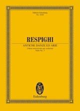 Ottorino Respighi - Antiche Danze Ed Arie - Suite N°3 - Partition - di-arezzo.fr