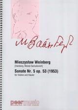 Sonate N° 5 Op. 53 Mieczyslaw Weinberg Partition laflutedepan.com