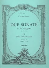 Luigi Boccherini - 2 Sonates en Ré Majeur (G571-572) pour 2 violoncelles - Partition - di-arezzo.fr