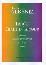 Tango, Chant D'amour Isaac Albeniz Partition laflutedepan.com