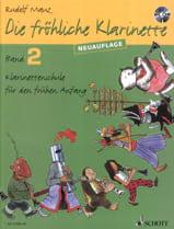 Rudolf Mauz - Die Fröhliche Klarinette Bd 2 Mit CD - Sheet Music - di-arezzo.co.uk