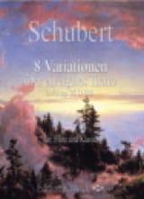SCHUBERT - 8 Variazione in autobiografi Thema Op.35 - D.813 - Partitura - di-arezzo.it