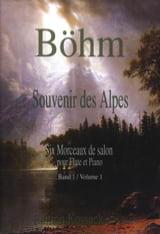 Souvenir des Alpes Volume 1 Theobald Boehm Partition laflutedepan.com