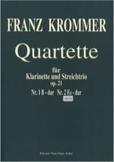 Franz Krommer - Quartuor Opus 21 N ° 2 in E flat Major - Sheet Music - di-arezzo.com