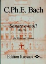 Sonate En Mi Min. Wq 124 Carl Philipp Emanuel Bach laflutedepan.com