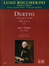 Luigi Boccherini - Duetto Op.3 N°5 En Mib Maj. G.60 - Partition - di-arezzo.fr