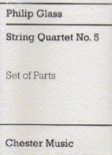 Philip Glass - String Quartet N ° 5 - Parts - Sheet Music - di-arezzo.co.uk
