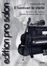 E Lucevan le Stelle Giacomo Puccini Partition Trios - laflutedepan.com