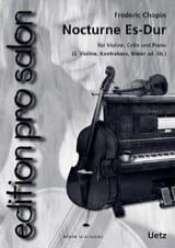 Nocturne en Mib Maj CHOPIN Partition Trios - laflutedepan.com