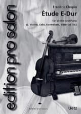 Etude En Mi Maj. CHOPIN Partition Trios - laflutedepan.com