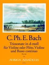 Carl Philipp Emanuel Bach - Triosonate En Ré Min. Wq 160 - Partition - di-arezzo.fr