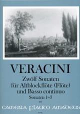 Francesco Maria Veracini - 12 Sonates Volume 1 - (1-3) - Partition - di-arezzo.fr