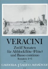 Francesco Maria Veracini - 12 Sonates Vol.2 - 4-6 - Partition - di-arezzo.fr