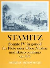 Triosonate En Sol Min. Op.14 N°4 Carl Stamitz laflutedepan.com