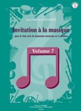 Jean-François Alexandre - Invitation A la Musique - Volume 7 - Partition - di-arezzo.fr