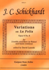 Variations Sur la Follia Op. 6 N°6 laflutedepan