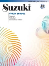 Violin School Volume 4 - Suzuki - Partition - laflutedepan.com