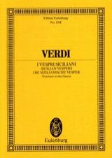 Die Sizilianische Vesper, Ouverture VERDI Partition laflutedepan.com