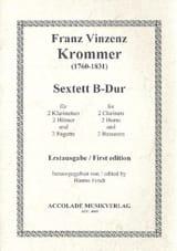 Sextuor à Vents B-Dur Franz Krommer Partition laflutedepan.com