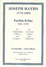 Sextuor Vents Hob Ii:b7 Joseph Haydn Partition laflutedepan.com