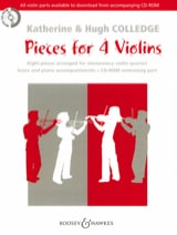 Pieces For 4 Violins Rom Partition Violon - laflutedepan.com