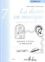 La Dictée en Musique - Corrigé - Volume 7 - laflutedepan.com