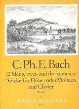 12 Kleine Stücke, Wq 81 - Carl Philipp Emanuel Bach - laflutedepan.com
