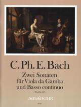 Carl Philipp Emanuel Bach - 2 Sonaten For Viola Da Gamba Und BC Wq 136, 137 - Sheet Music - di-arezzo.com