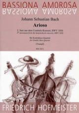 BACH - Arioso du 2d Mouvt. du Concerto BWV 1056 - Partition - di-arezzo.fr