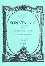 Sonate N° 17 G17 - Luigi Boccherini - Partition - laflutedepan.com