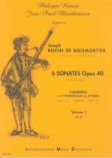 BOISMORTIER - 6 Sonates Opus 40 Volume 1 - Partition - di-arezzo.fr