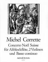Michel Corrette - Concerto Noël Suisse - Partition - di-arezzo.fr