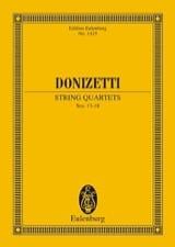 Gaetano Donizetti - String Quartets N°13-18 - Partition - di-arezzo.fr