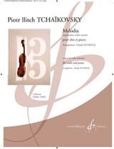 TCHAIKOVSKY - Melodia - Viola and piano - Sheet Music - di-arezzo.co.uk