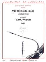 Marc Vallon - Mes Premiers Solos - Basson - Volume 1 - Partition - di-arezzo.fr