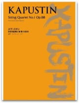 String Quartet N°1 Opus 88 - Nikolai Kapustin - laflutedepan.com