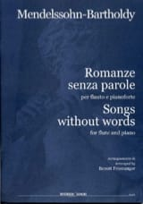 Romances Sans Paroles MENDELSSOHN Partition laflutedepan.com