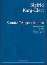 Sonata Appassionata Op.140 Sigfrid Karg-Elert Partition laflutedepan