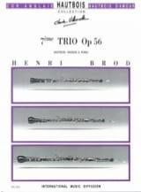 Trio Opus 56 Henri Brod Partition Trios - laflutedepan.com