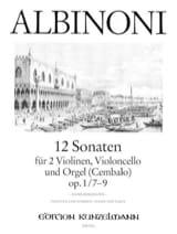 Tomaso Albinoni - 12 Sonates Vol.3 - Op.1 N°7-9 - Partition - di-arezzo.fr