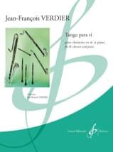 Jean-François Verdier - Tango Para Ti - Sheet Music - di-arezzo.co.uk