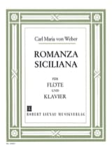 Carl Maria von Weber - Romanza Siciliana g-moll op. posth. - Sheet Music - di-arezzo.co.uk