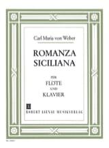 Carl Maria von Weber - Romanza Siciliana g-moll op. posth. - Partition - di-arezzo.fr