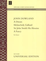 John Dowland - A Dream - Melancholy Galliard - Sir John Smith His Almaine - A Fancy - Sheet Music - di-arezzo.com