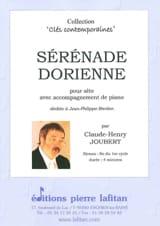 Sérénade Dorienne Claude-Henry Joubert Partition laflutedepan.com
