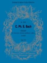 Carl Philipp Emanuel Bach - Concerto en la Mineur pour Violoncelle et Orchestre Wq 170 - Partition - di-arezzo.fr