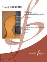 11 Etudes Pour la Beauté des Gestes - David Lacroix - laflutedepan.com