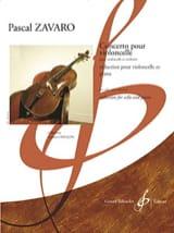 Concerto Pour Violoncelle Pascal Zavaro Partition laflutedepan.com