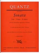 Johann Joachim Quantz - Sonata Op. 3 N° 6 F-Dur - Partition - di-arezzo.fr